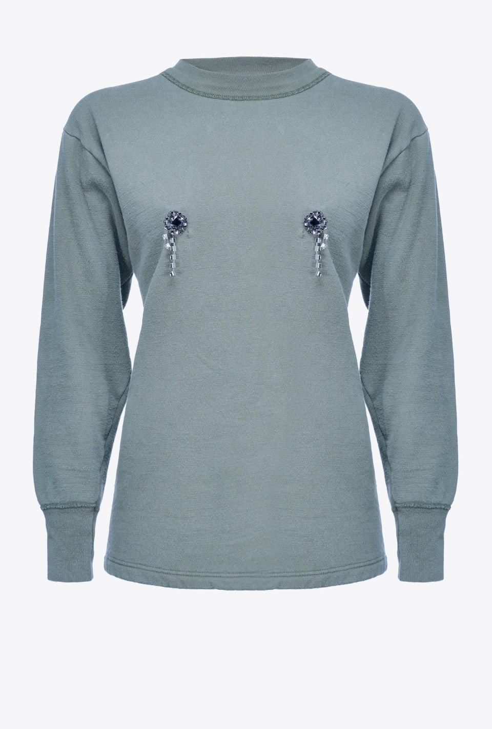 REIMAGINE bejewelled-button sweatshirt - Pinko