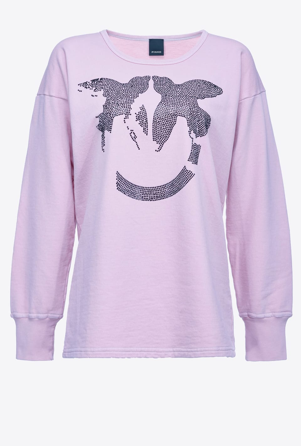 REIMAGINE black Love Birds sweatshirt - Pinko