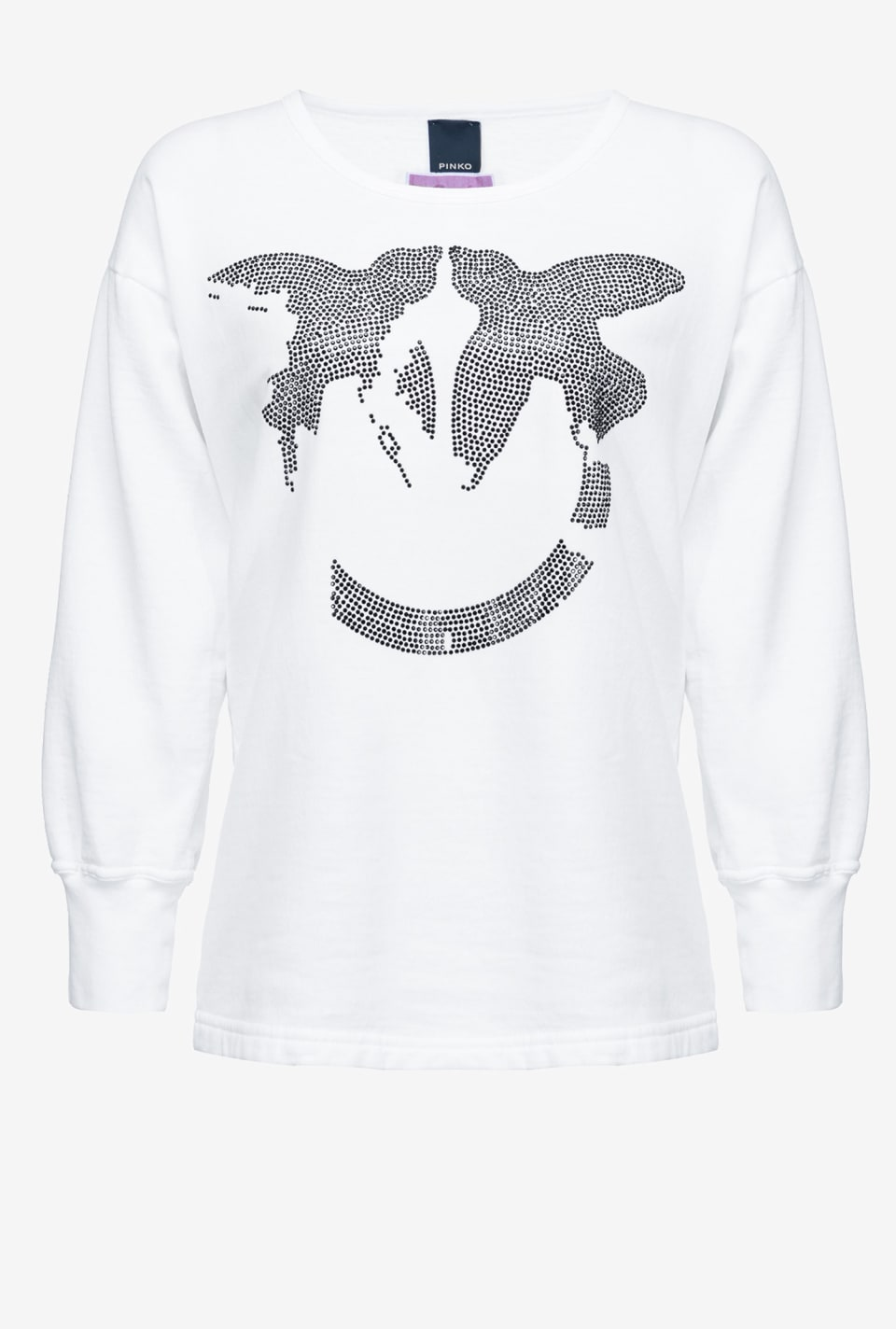 Sweat-shirt Love Birds black REIMAGINE - Pinko