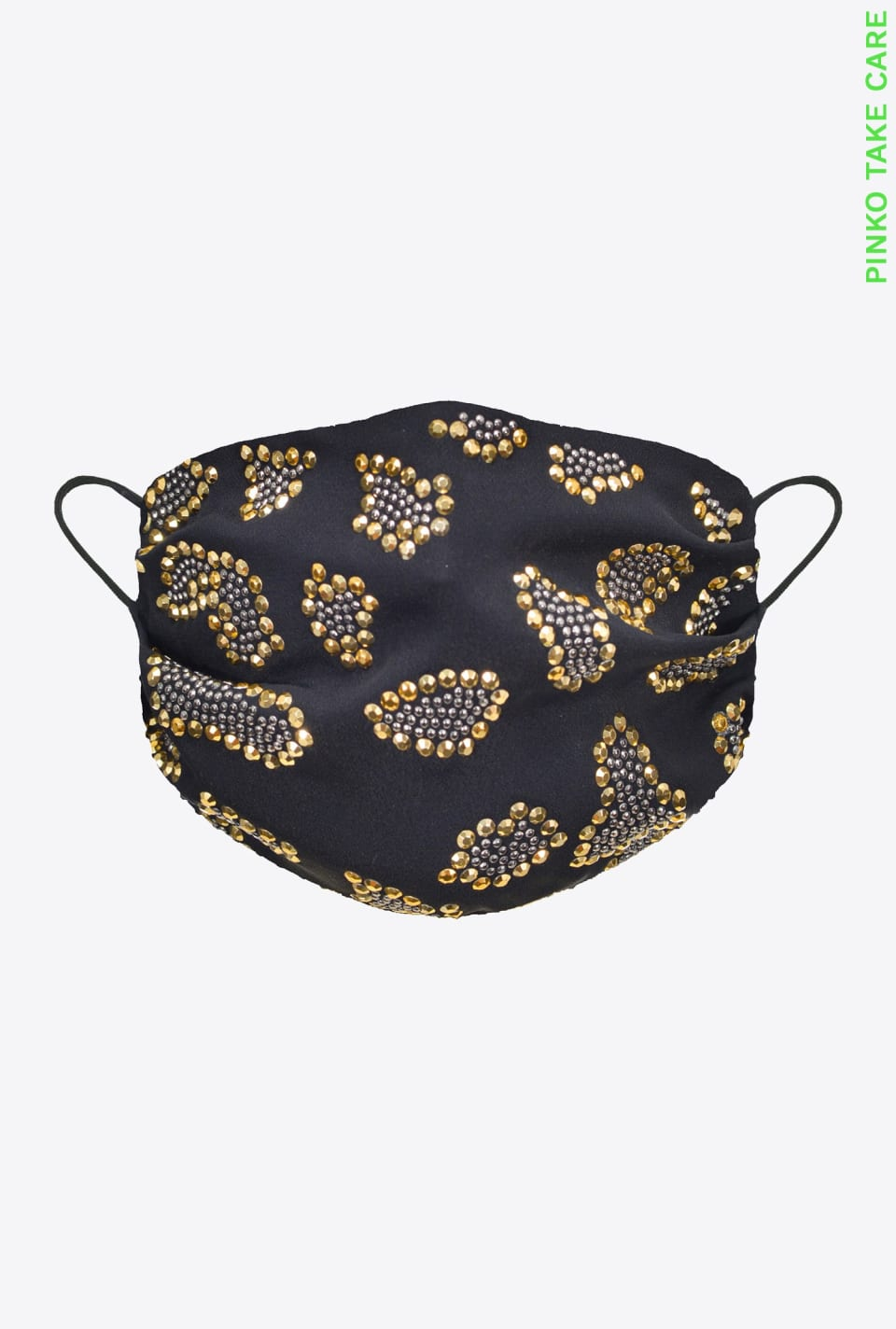 REIMAGINE rhinestone-spotted face mask - Pinko