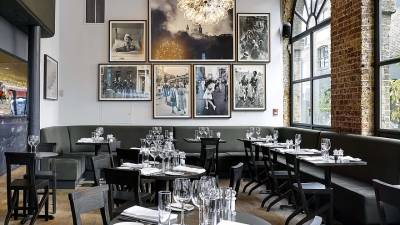 The smart dining room at the Frontline Club