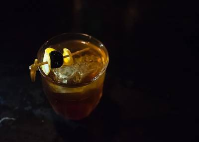 The perfect dark and stormy cocktail for a dark and stormy night