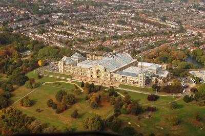 Impressive park grounds and Victorian architecture at Alexandra Palace