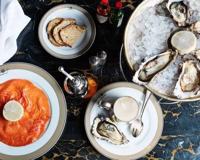 Oysters at The Wolseley