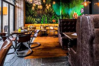 The Starting Gate mixes traditional pub decor with modern touches