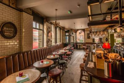 The Mall Tavern is a bright and airy Victorian pub