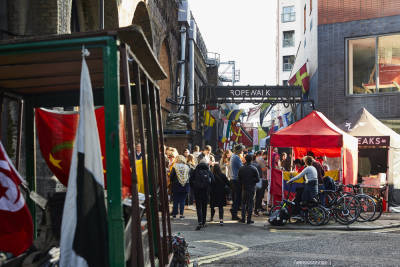 This narrow street known as Ropewalk is home to one London's best food experiences.