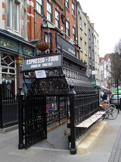 What could be more London than drinking coffee in a converted Victorian public toilet