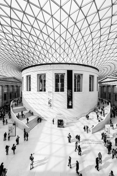 The beautiful central atrium at The British Museum