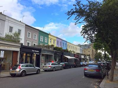 Westbourne Grove shops and cafes