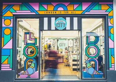 Quirky souvenirs and London-themed artworks at this fun shop on Carnaby Street