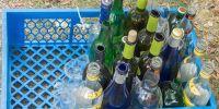 Banner Glas naar de glascontainer brengen