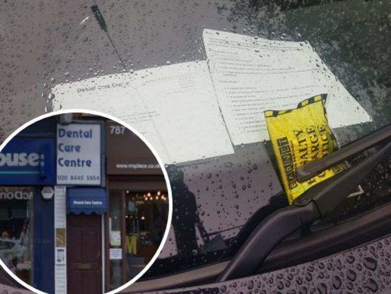 Hero for Dental staff spitting teeth at council parking fines