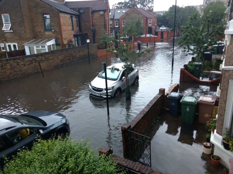 Hero for Walthamstow flooding: Chaos in E17 after heavy rainfall