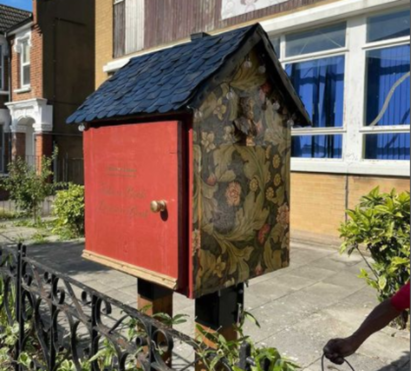 Hero for Vandalised free library repaired with community help
