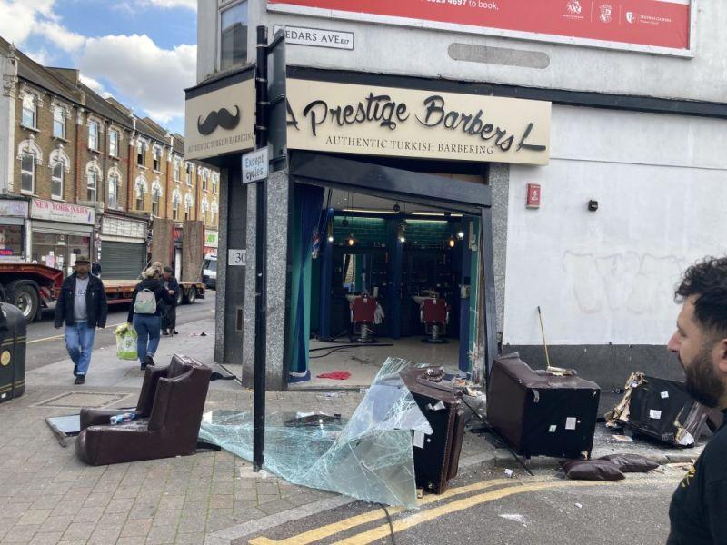 Hero for Five in hospital and shop smashed after Hoe Street crash