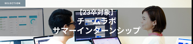【23卒向け】サマーインターンシップ!【チームラボ株式会社】