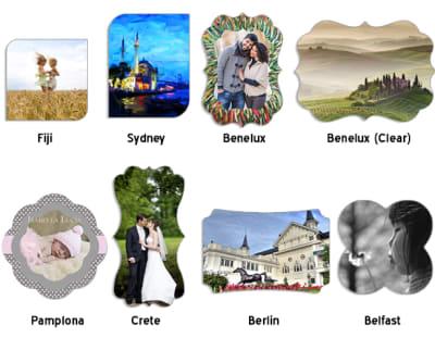 ChromaLuxe Metal Photo Panels Creative Border - Gloss White