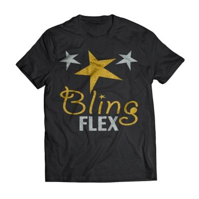 GJS Bling-Flex Heat Transfer Vinyl with Metallic Effect