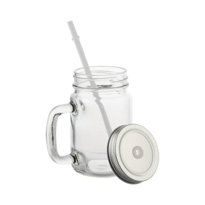 Glass Mason Jar With Handle - 12oz