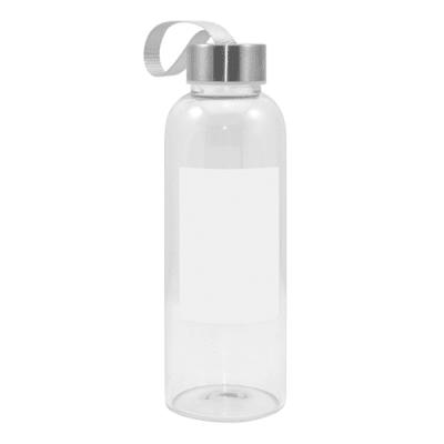 Glass Drink Bottle w/White Patch
