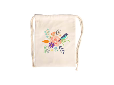 Drawstring Bags - Canvas Look