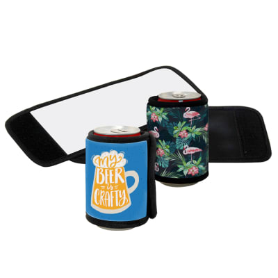 Stubby Cooler/Holder - Deluxe Neoprene Wrap w/Trim & Velcro