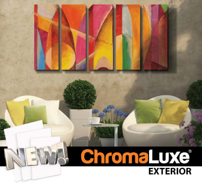 ChromaLuxe EXT Outdoor Metal Panels - White Gloss