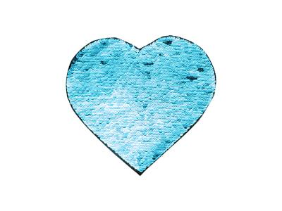 Flip Sequin Adhesive Heart