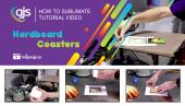 How to sublimate hardboard coasters