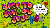 Back to school sale - up to 20% off!