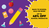 Back to school sale - up to 45% off!