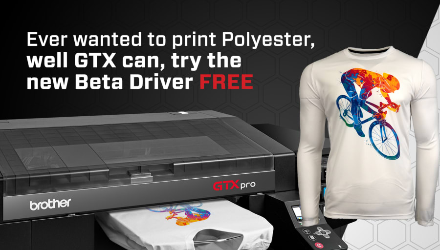 Print on polyester with your Brother GTX