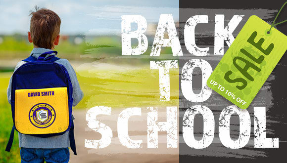 Back to school sale - up to 10% off!