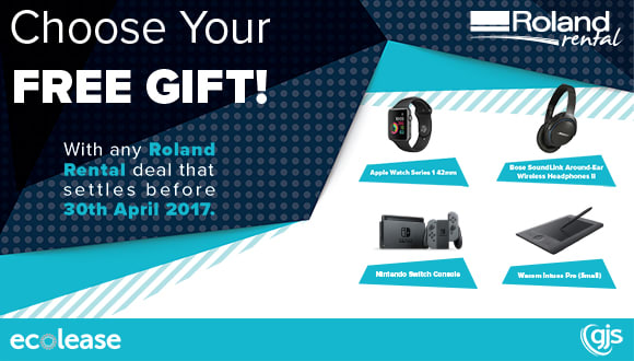 Choose a FREE gift with any Roland Rental deal in April