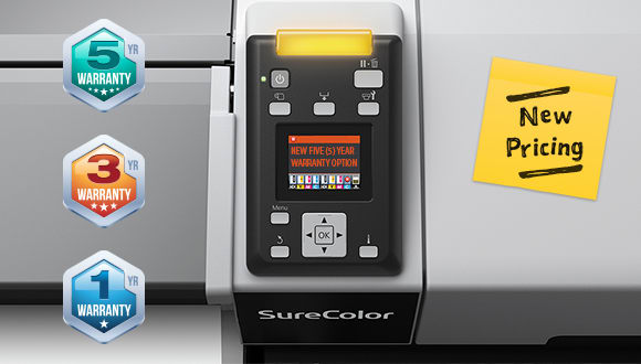 New revised pricing  and warranty options for Epson printers