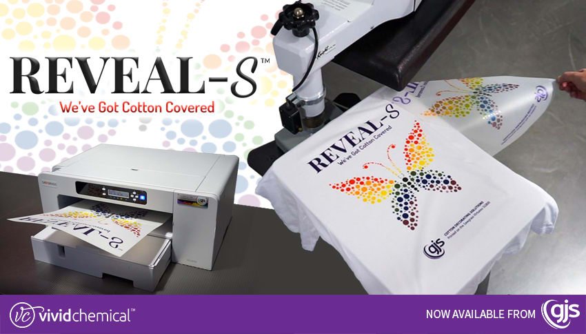 Reveal-S sublimation media for cotton garments