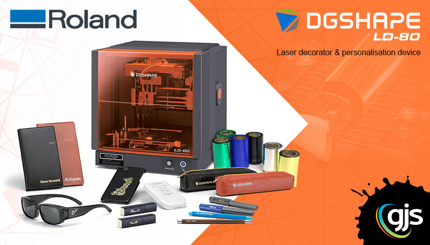 New Roland LD-80 laser foil decorator