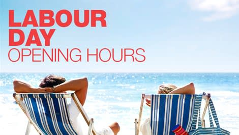 Labour Day opening hours