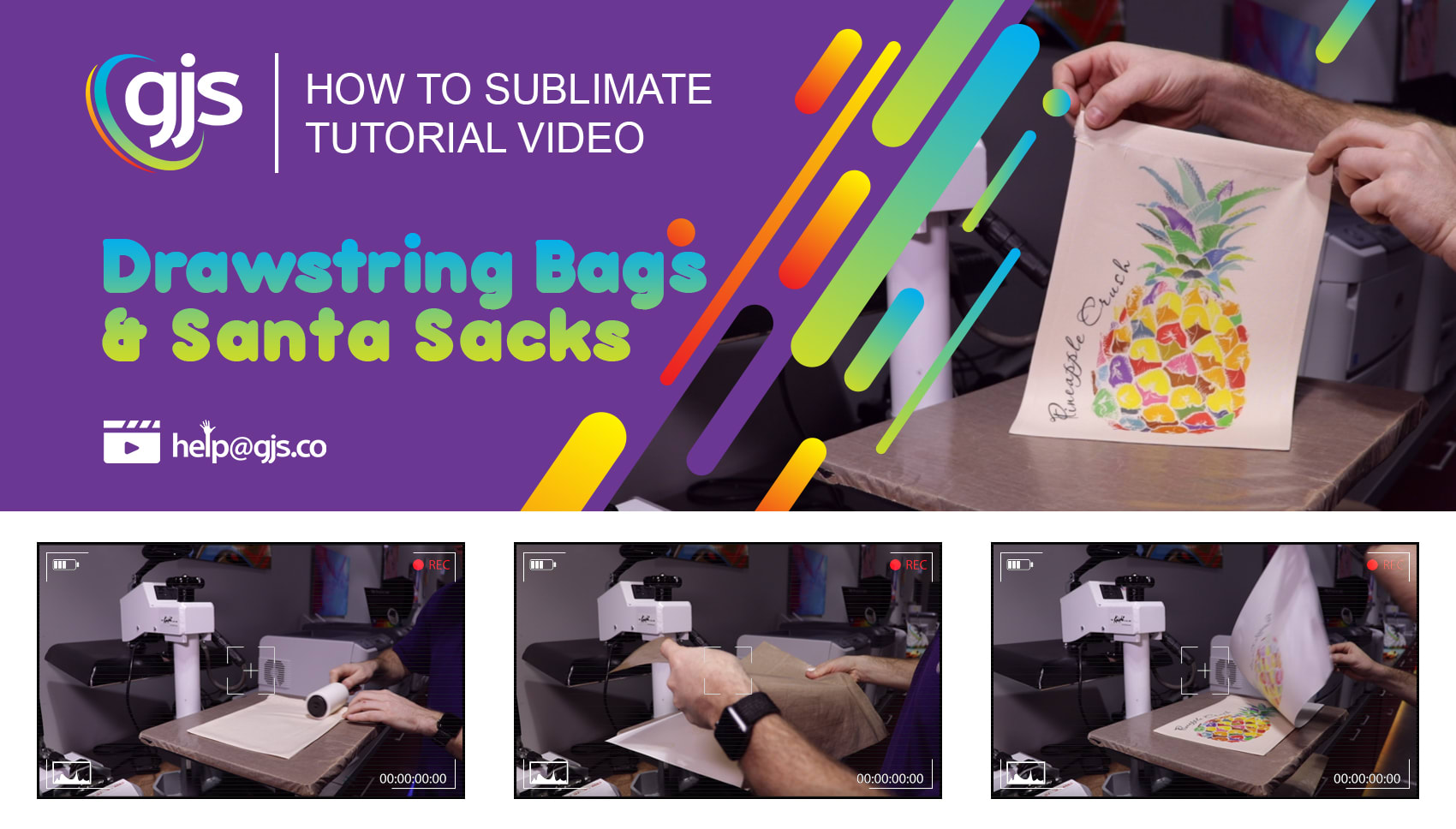 How to sublimate drawstring bags & Santa sacks