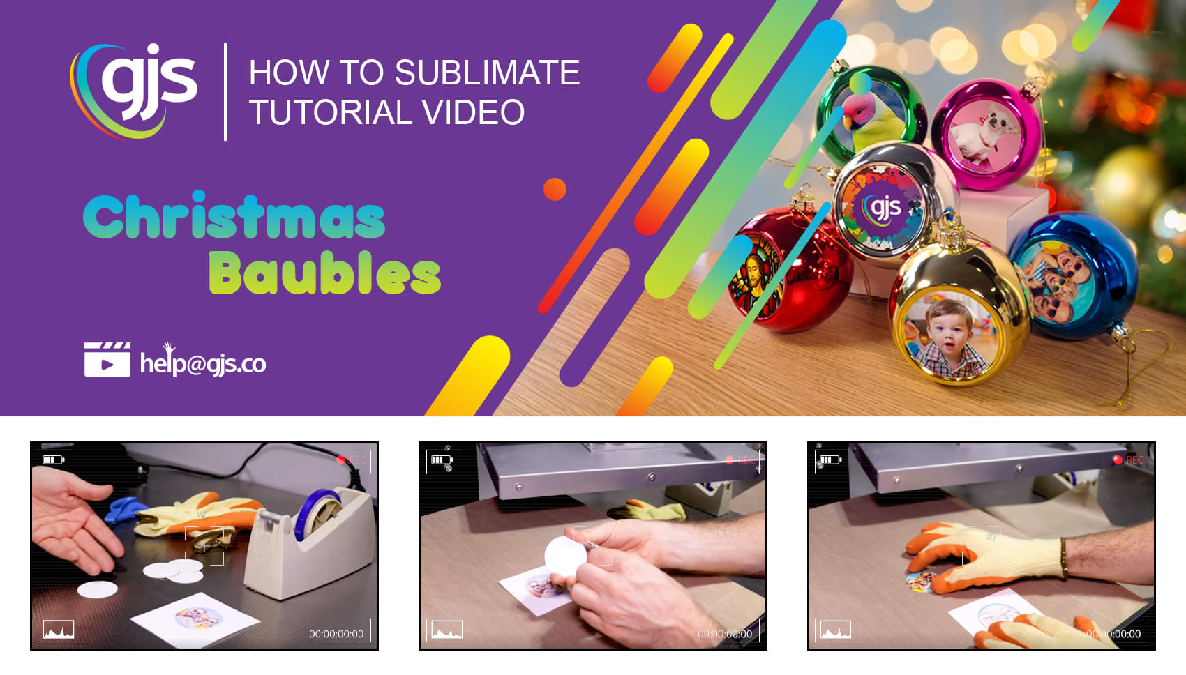 How to sublimate Christmas baubles and decorations