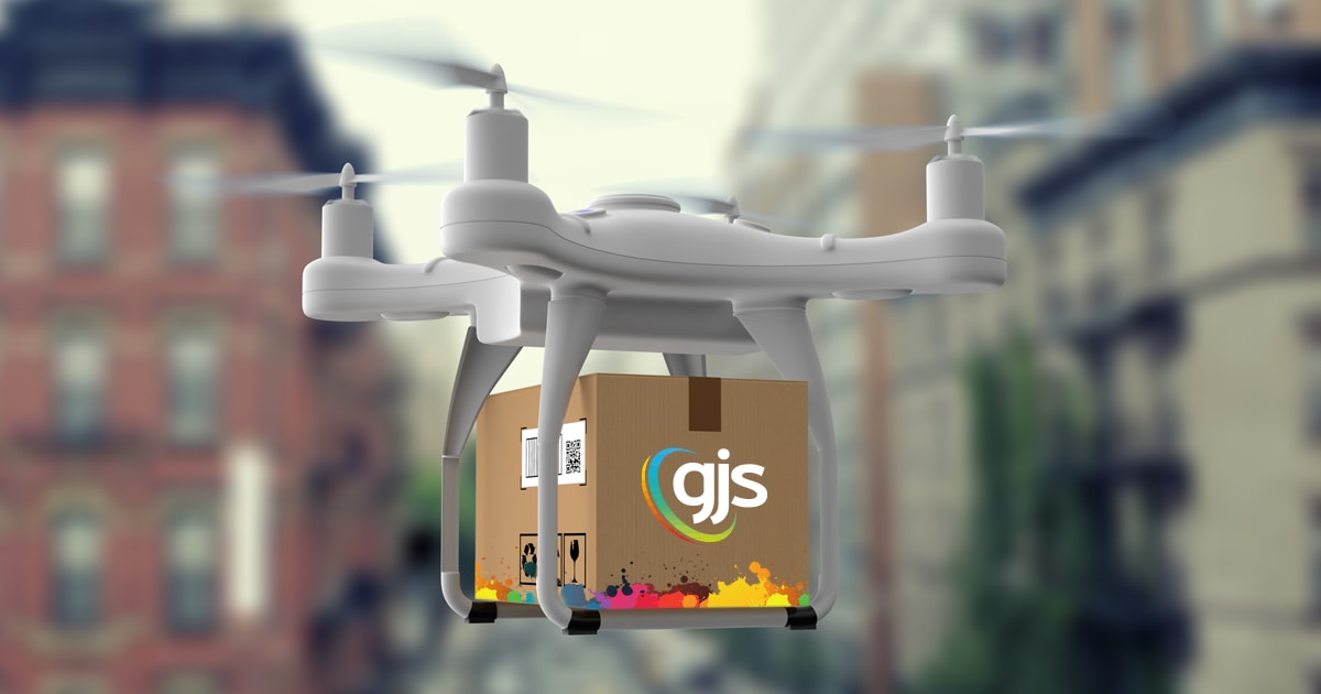 GJS pioneers print industry's first drone delivery service