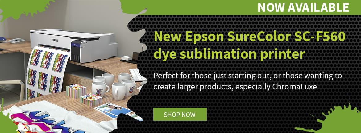New Epson SureColor SC-F560 24-inch dye sublimation printer