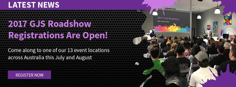 GJS 2017 Roadshow Registrations Now Open
