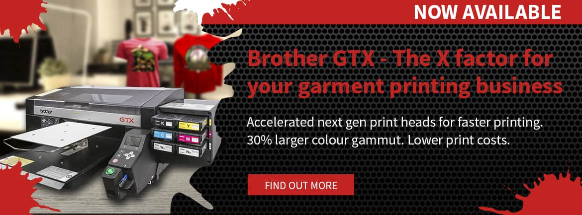 New Brother GTX Direct To Garment Printer