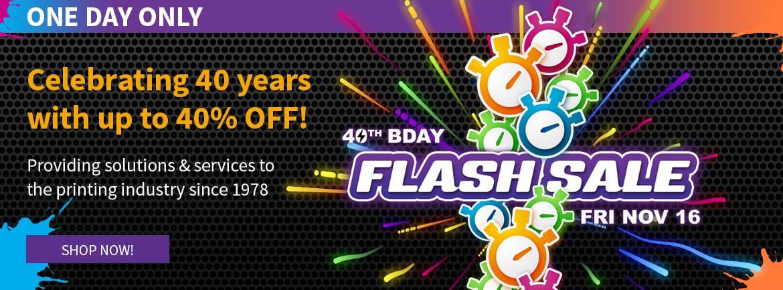 40th Birthday Flash Sale