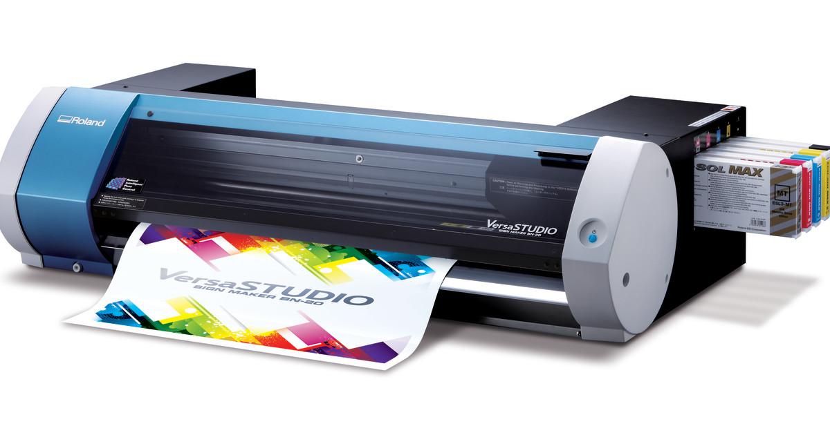 Roland Bn 20 Versastudio Desktop Solvent Printer Cutter