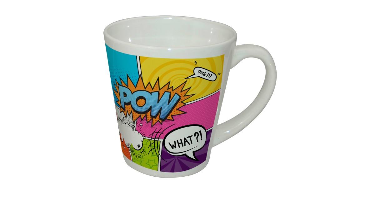 Dye Sublimation Printable Blank Ceramic Latte Mugs
