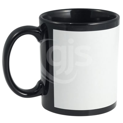 graphic relating to Printable Mugs identified as Ceramic Mugs - Colored With White Panel Include