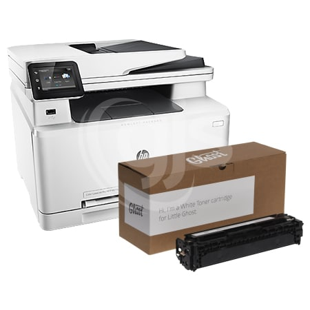 picture relating to Laserjet Printable Vinyl identify Very little Ghost A4 White Toner Printer